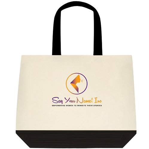 SYN Two-Tone Deluxe Classic Cotton Tote-Bag