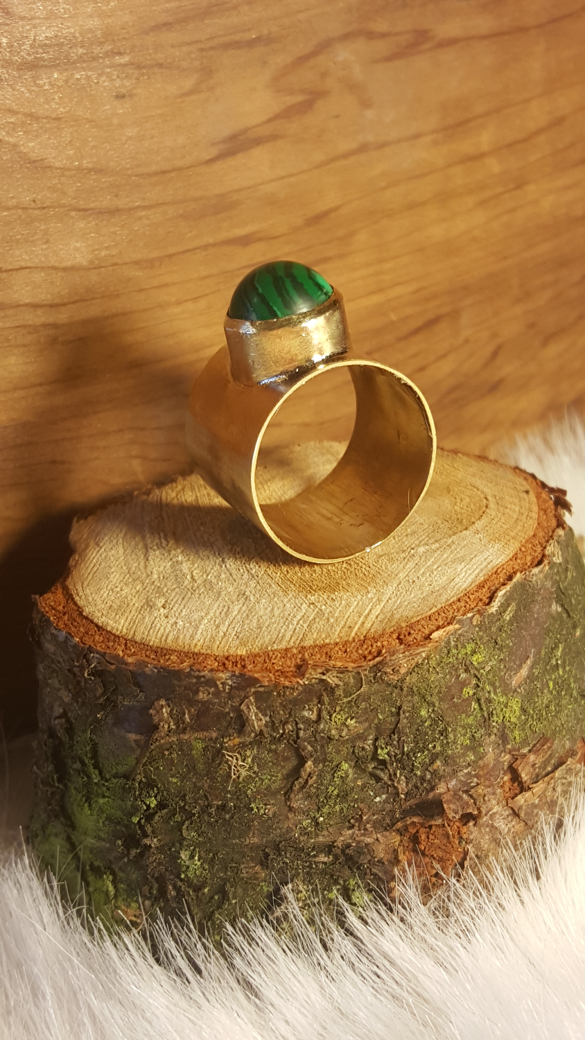 Malachite Power Ring