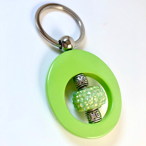 Iridescent Green Key Chain