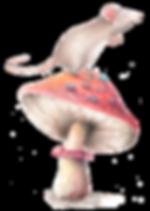 cute watercolour mouse