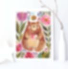 watercolour bear nursery print