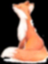 watercolour fox nursery