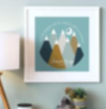move mountains nursery print