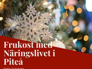 Frukost med Näringslivet i Piteå 13/12