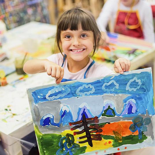 Урок рисования для детей 3-5 лет