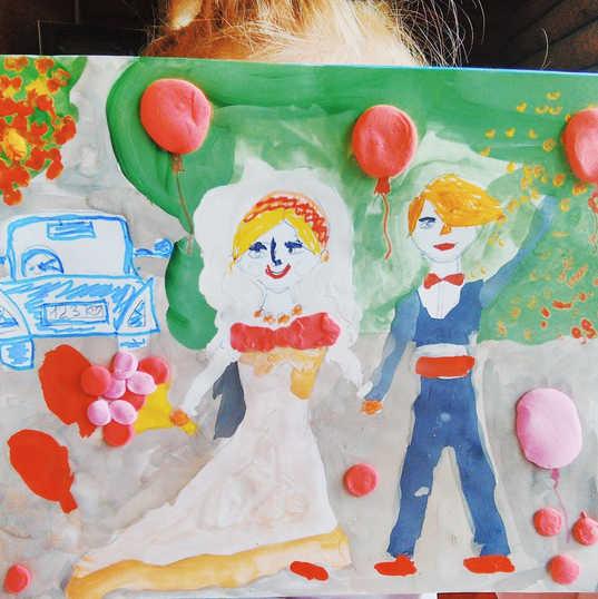 """Мария нарисовала рисунок """"Свадьба"""""""