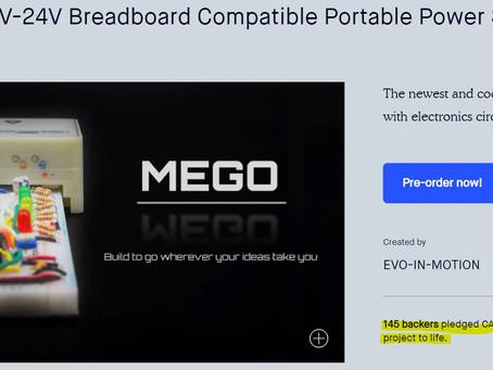 MEGO succeeded the Kickstarter campaign