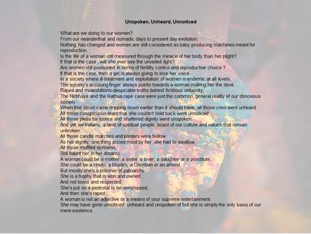 Unspoken, Unheard, Unnoticed.