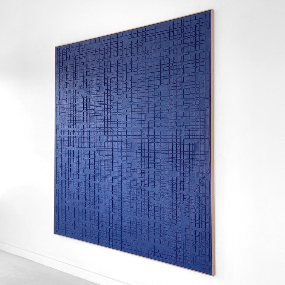 Blue Conjunction (0109) 2021 - 140x160cm