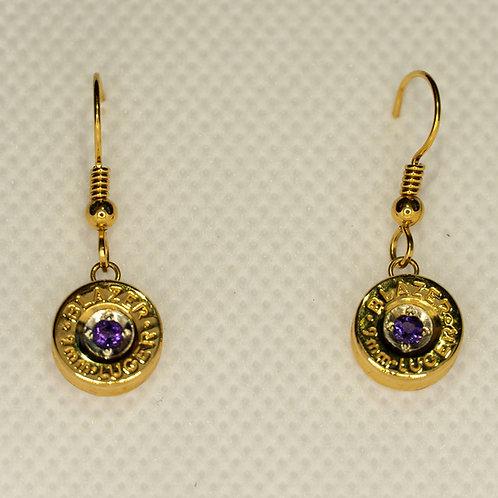 Love Shot Dangle Earrings (amethyst)