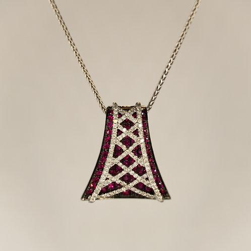Diamond & Ruby Corset Pendant