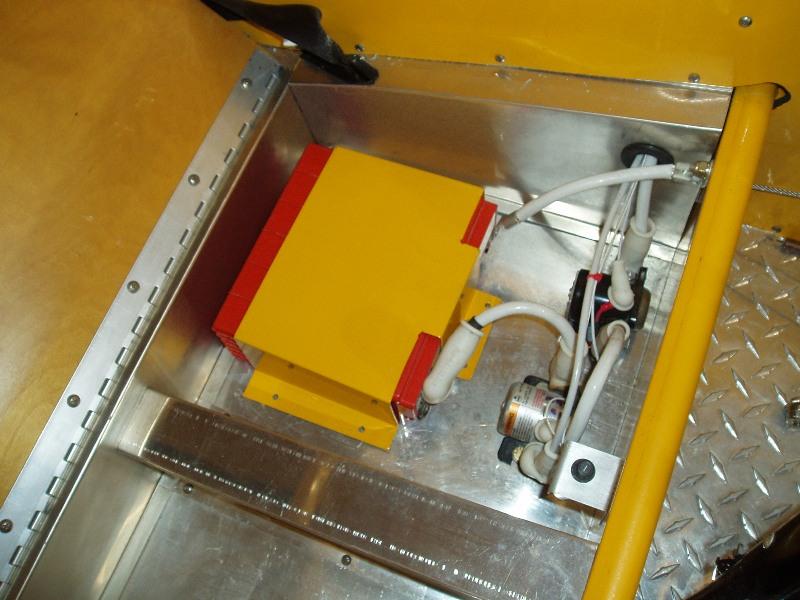 Underseat Storage with Battery Installation