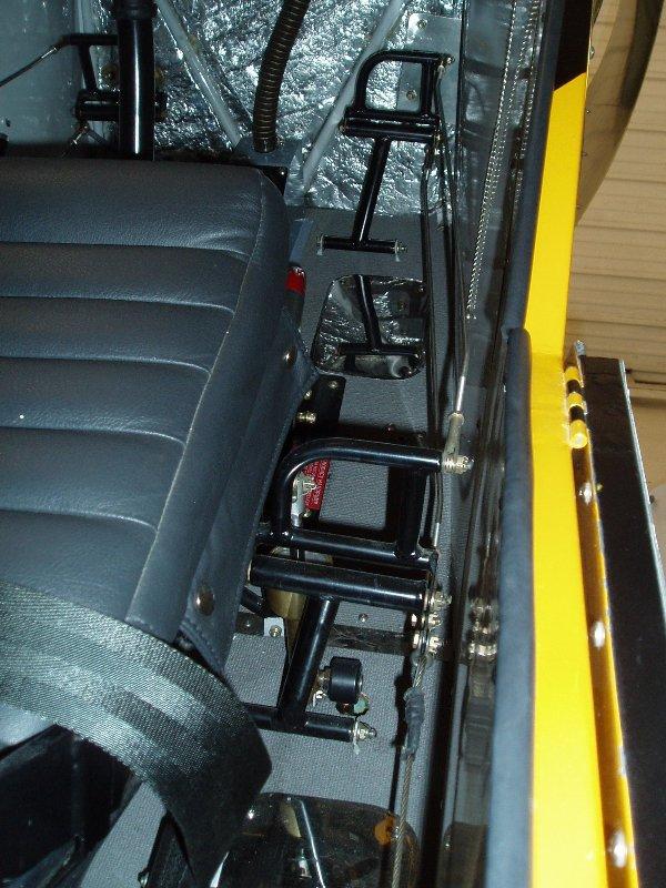 Toe Brake Kit Installed