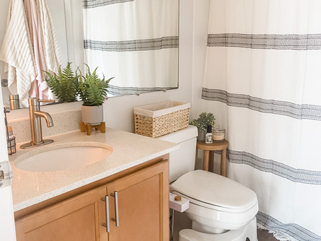 How To Give Your Small, Rental Bathroom a Refresh