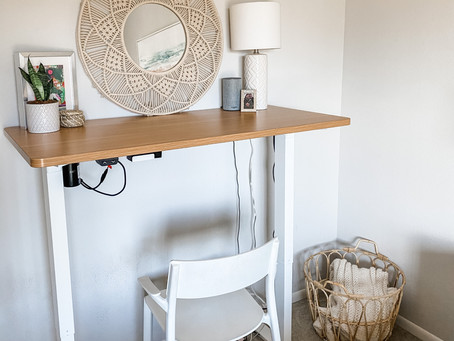 Our Updated Home Office with Standing Desk!