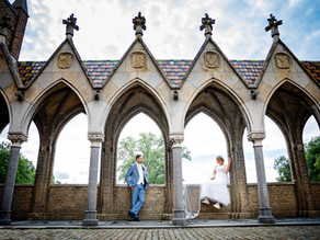 bruidsreportage kasteel Heeswijk,     bruiloft Pim & Loes