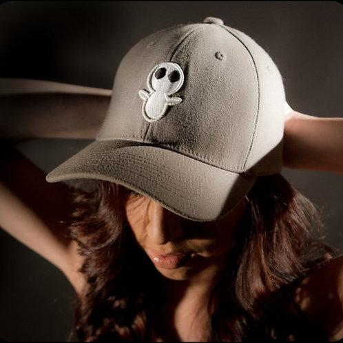 Flex Fit Grey Hat with White Logo