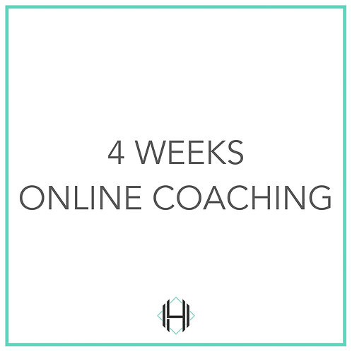 Four Weeks - Monthly Rolling (Online Coaching)
