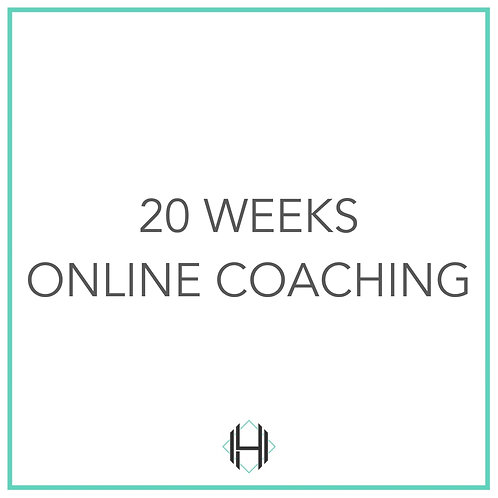 Twenty Weeks (Online Coaching)
