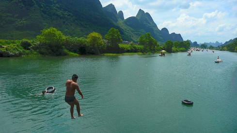 Rivière Li, Yanshuo, Guangxi, Chine