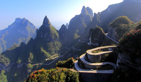 photographe francais french photographer travel photography photographie voyage landscape paysage paysaje nature route road mount tianmen shan montagne mountains china chine