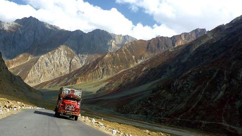 Route Srinagar - Leh, Inde