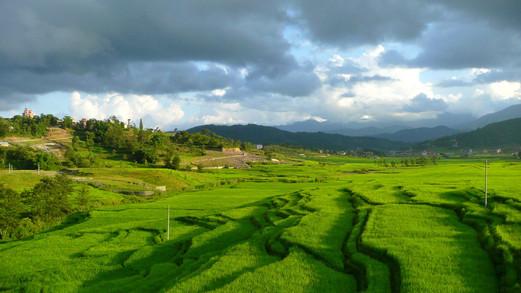 Banlieue de la banlieue de Katmandou, Népal