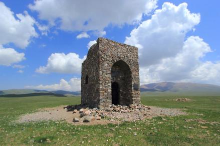 Proche du Lac Song Kol, Kyrgyzstan