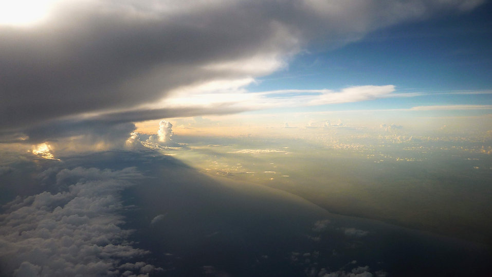 photograhe francais french photographer travel photography photographie voyage landscape paysage from above aerial skyscape cloudscape coast coatline sunrise