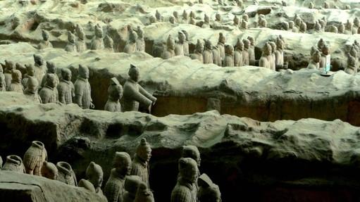 Mausolée de l'empereur Qin, Shaanxi, Chine