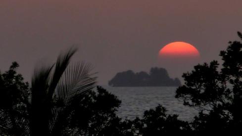 En face d'Isla Utila, Honduras