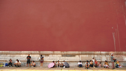 Walls of the Forbidden City, Beijing, China