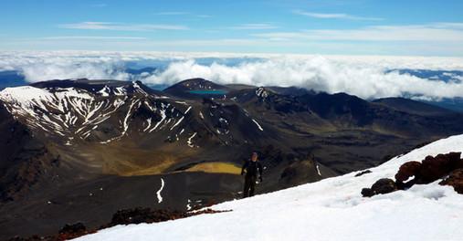 Sommet du Mont Ngauruhoe, Nouvelle-Zélande