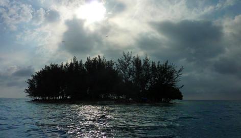 Satellite d'Isla Utila, Honduras