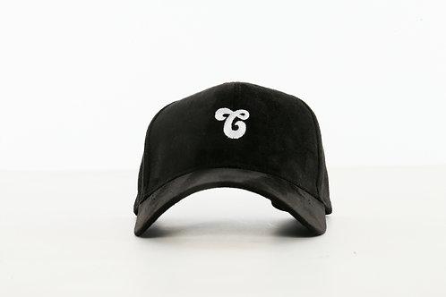 Vegan Suede Logo Hat Black