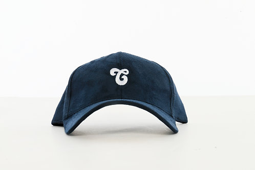 Vegan Suede Logo Hat Navy
