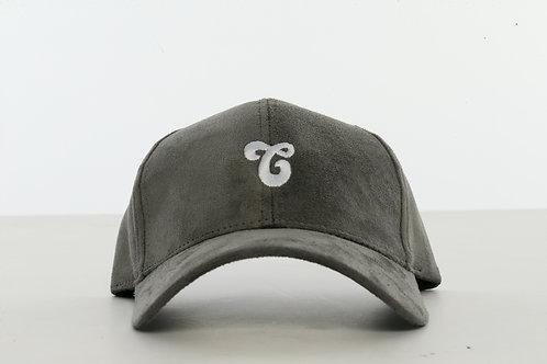 Vegan Suede Logo Hat Gray