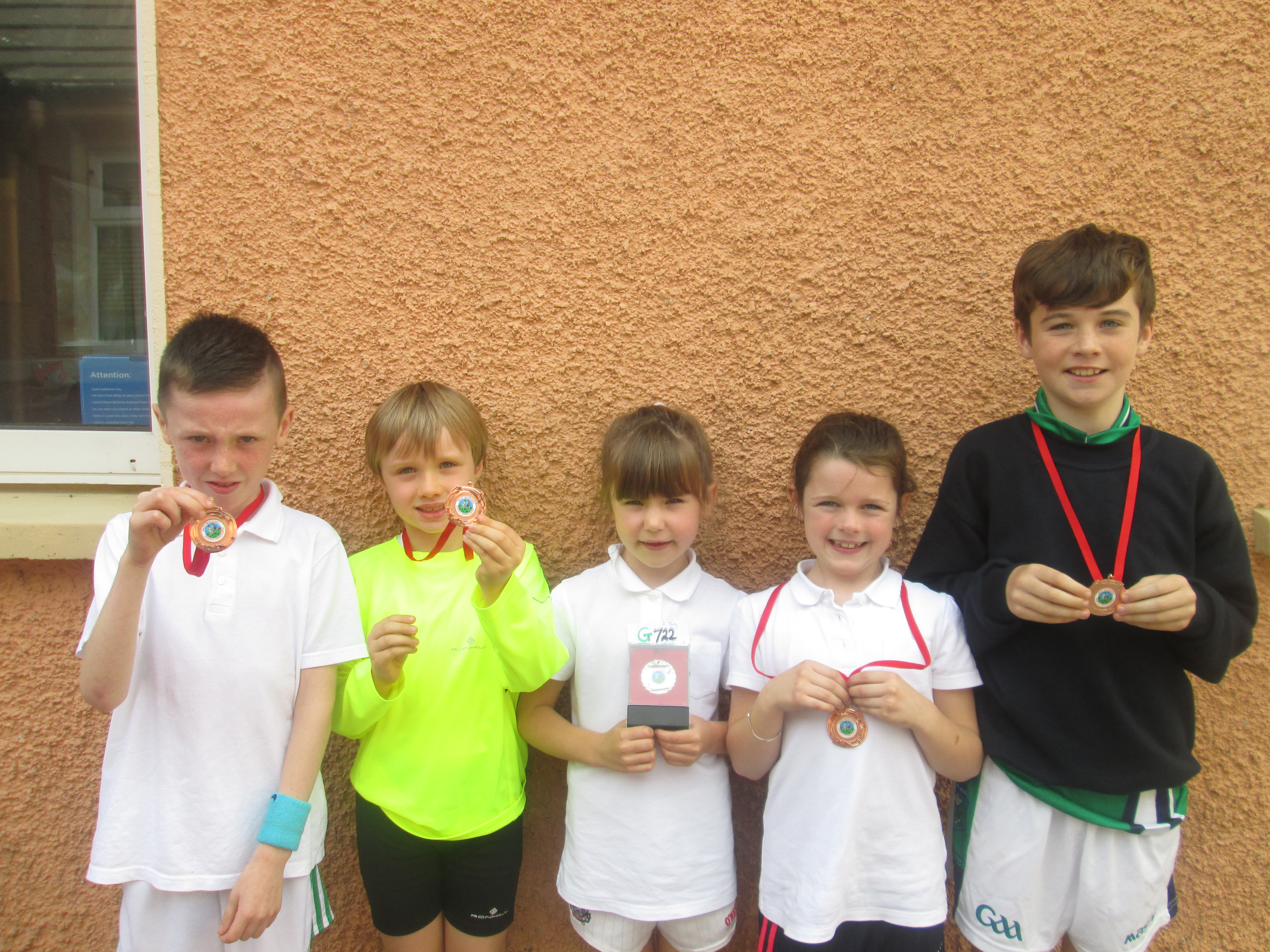 Medal winners from cross country run
