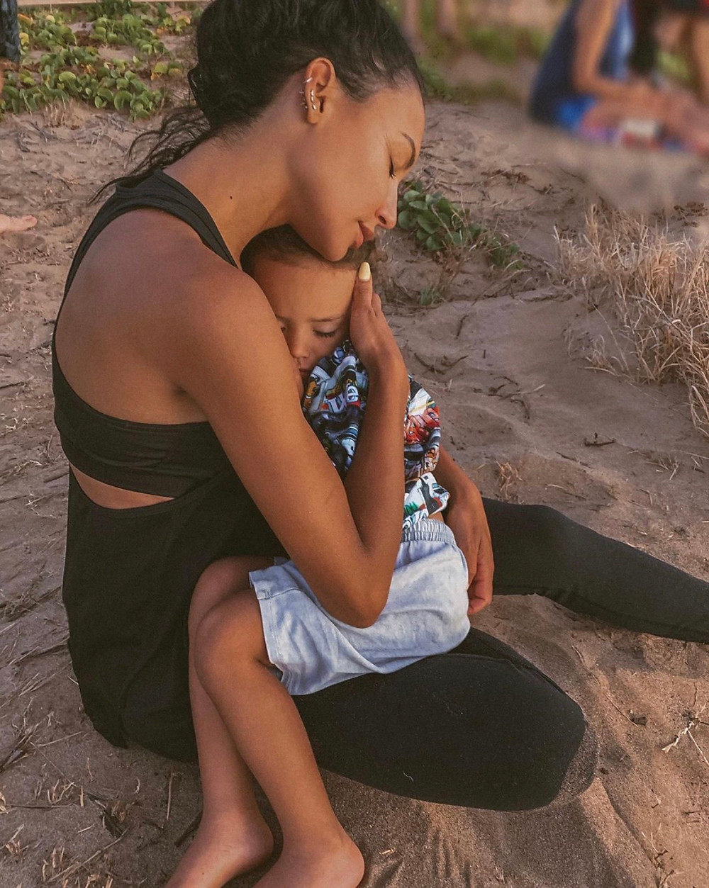 Naya Rivera and her 4 year old son Josey.