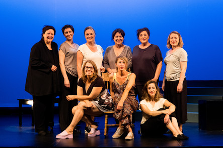 gauche à droite : Marie-Claude Roy, Michèle Losier, Chantal Dionne, Chantal Lambert, Monique Pagé, Veronique Gauthier, Nathalie Deschamps, Catherine Major et Catherine St-Arnaud.   Crédit: Vincent Marchessault