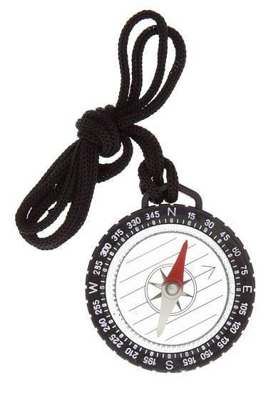 "1 1/2"" Compass With Lanyard"