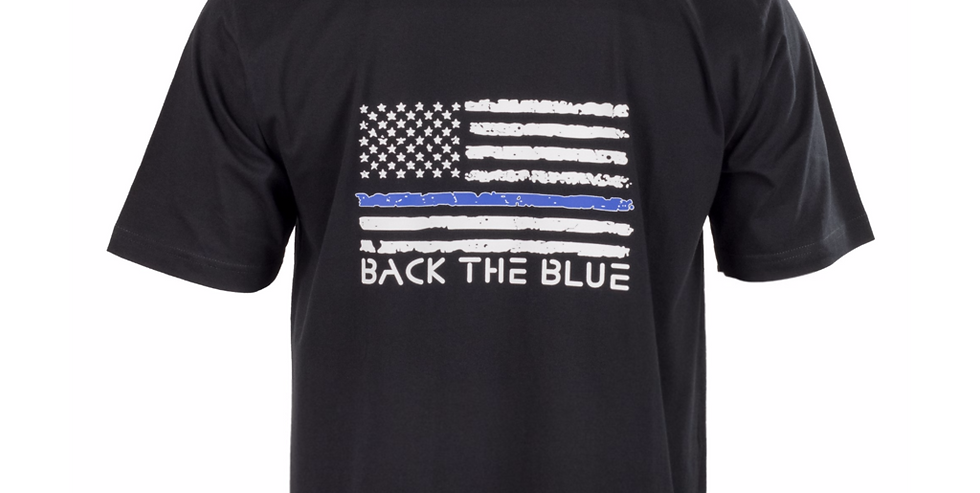 Pudala Blue Line/Red Line Flag T-Shirt