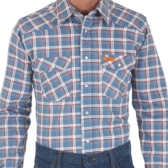 Wrangler FR Pearl Snap Work Shirt
