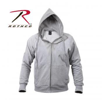 Thermal Lined Zipper Hooded Sweatshirt