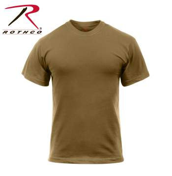Solid Color Military T-Shirt 100% Cotton