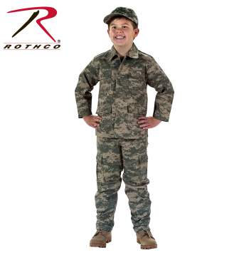 Kids B.D.U. Military Camo Top