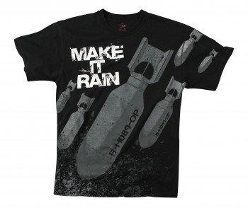 Vintage Black 'Make it Rain' T-Shirt