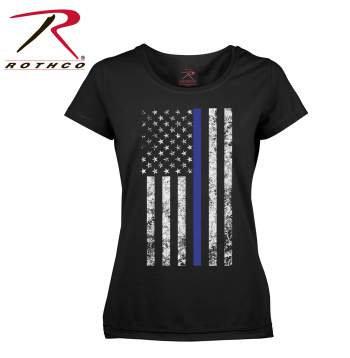 Women's Blue Line Flag T-Shirt