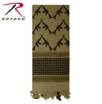 Shemagh Tactical Scarves Crossed Rifles