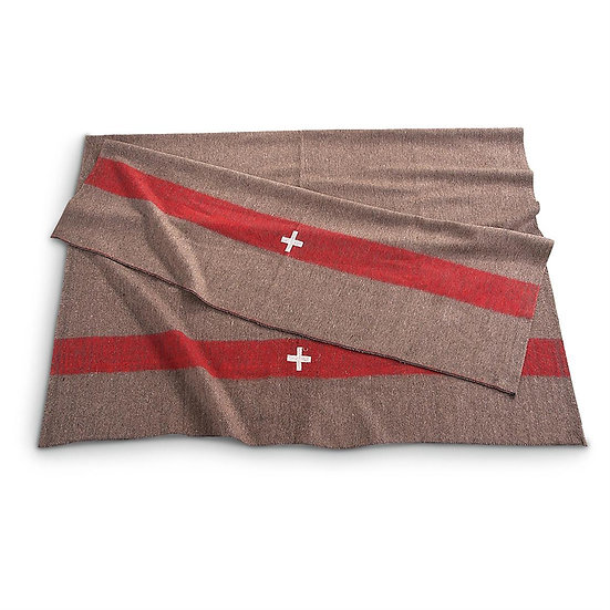 """Military Style 60% Wool Swiss Style Blanket 60"""" x 80"""""""